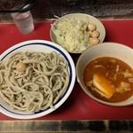 蓮爾 - 料理写真:【2019.7.8】小つけ麺850円+うずら100円 ニンニク、ヤサイ