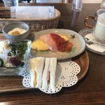 焙煎珈琲工房 梢庵 - クラシックサンドイッチセットドリンク付き  725円