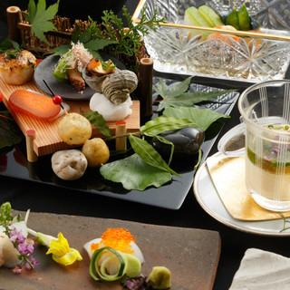 大切な会食は季節の旬の食材を使った懐石料理で