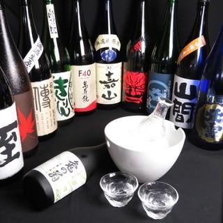 新潟の地酒30種以上常時ご用意♪季節のお酒や超限定酒もぜひ!