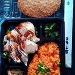 ミラックマツヤ - 鶏モモ焼き弁当+ビックリメンチカツ