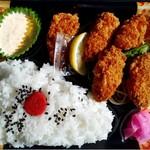 ミラックマツヤ - かきフライ弁当(5個入りバージョン)