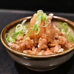 CHICKEN CREW - 鶏皮ポン酢@550円