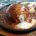ばくばく亭 - チーズオーブン焼きハンバーグ