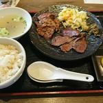 北海道焼肉 プライム - 「牛たん上ラム塩定食」②