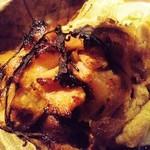 11176550 - もろこし豚と「しいたけブラザーズ」の原木椎茸の朴葉味噌焼き