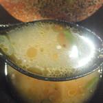 夢館 和風らーめん専門店和風らーめん専門店 - 割りスープで割った後のスープ(2019.6.24)
