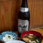 みなと食堂 - 2019.7 ビール(600円)アサヒスーパードライ中瓶