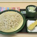 ゆで太郎 - 料理写真:もり320円、クーポン海老天