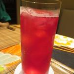 いはら田 - 私は自家製の赤紫蘇ジュースを