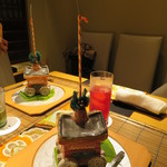 いはら田 - 1品目は祇園祭の鉾の器が登場