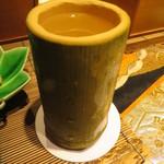 いはら田 - 日本酒は竹筒で 1合入っています