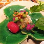 いはら田 - 中は渡り蟹とトマトなど夏野菜