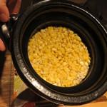 いはら田 - 炊き込みご飯 玉蜀黍と鯛