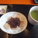 千花 - 蕎麦白玉ぜんざい 自家製粉緑茶付