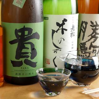 目利きの女将が厳選◎全国の日本酒や国産ワインをお料理とぜひ