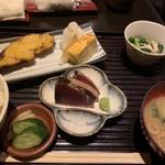 和食とお酒 きいろ - タラの西京焼き定食(1,200円)
