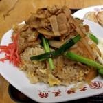 大阪王将 - 大胆不敵な生姜焼き炒飯。