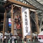 111803393 - 博多駅の前の飾り山笠。めっちゃ大きいから。