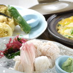 駿河居酒屋 福助 - ハモ料理・落し天ぷら・卵とじ 各980円
