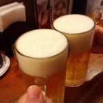 坂内食堂 - 生小で乾杯♪