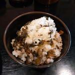 九龍 - 高菜ご飯