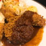 洋食SAEKI - ミンチカツ、クリームコロッケ、チキンカツ。