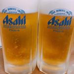 代一元 - 生ビール 中ジョッキ 530円
