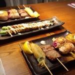 近江野菜鉄板串焼き わえん - 焼き串5種盛り