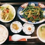 来々軒 - 料理写真:にんにくの芽炒め定食