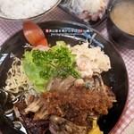 樅山レストラン - 料理写真:ポークステーキライス(1,000円)