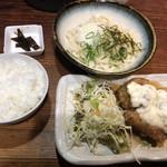 うどん屋 米ちゃん - チキン南蛮とうどんのセットC580円