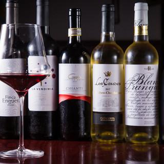 ワインセラー完備◎世界各国のワインを絶品料理と共にご堪能あれ