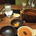 ワインと美味しい一人鍋 アスペルジュ - しゃぶしゃぶのタレ3種