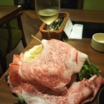 ワインと美味しい一人鍋 アスペルジュ - お肉と野菜盛合せ