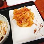 森製麺所 - 小えびのかき揚げ