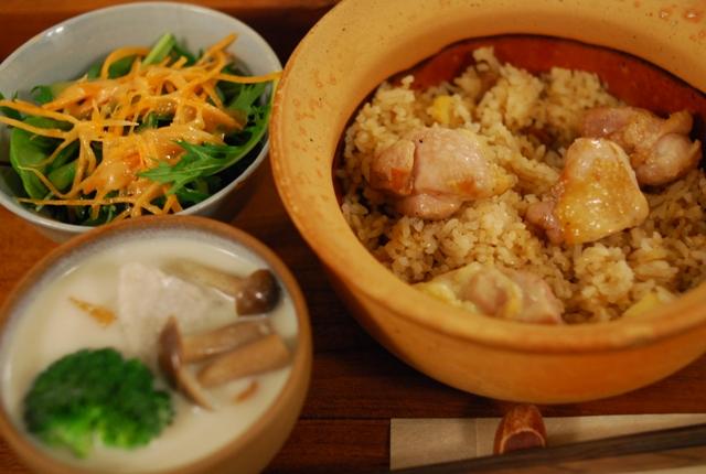 モノカフェ ワヲン - コムガートレー(鶏たきこみご飯)
