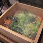 Ooitayuushokuizakayaorochitohiiragi - 冬野菜のせいろ温サラダ