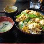 資さんうどん - 料理写真:鶏天とじ丼・大盛