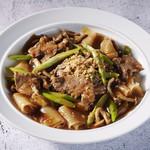 豚肉と野菜のラートナー(タイのあんかけ焼きそば)