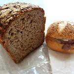 ベッカライレッヒェルン - ライ麦パン、カイザーサンド(パストラミ)