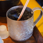 大阪カオマンガイカフェ - カオマンガイ ハーフ&ハーフ(アイスコーヒー)