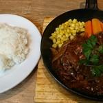 神田の肉バルRUMP CAP - ハンバーグランチ ライス付き 950円