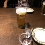純米酒専門 粋酔 - まずはビール