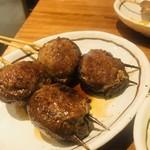 111875998 - 椎茸肉包み