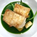 ツカサ - 真コチのホウレン草ソース(日替、魚料理から)