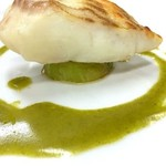 ツカサ - 真鯛のバジルソース(おまかせ¥5500コース:税別からの1品