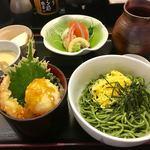 悠喜 - 料理写真:茶そば天丼セット