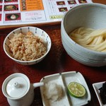 Sanukiudonharushin - 生醤油+Aセット