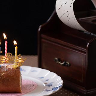 手回しオルゴール&特製デザートで素敵な誕生日を♩